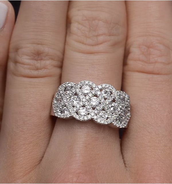Lattice Diamond Ring 1 75CT H/Si in 18K White Gold - N4531Y
