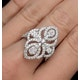 Vintage Diamond Ring 1.75CT H/Si in 18K White Gold - N4547 - image 4