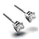 18K White Gold Princess Diamond Earrings - 1CT - H/SI - 4.8mm - image 3