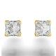 18K Gold Princess Diamond Earrings - 1CT - G/VS - 4.8mm - image 3