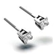 18K White Gold Princess Diamond Earrings - 0.50CT - H/SI - 3.4mm - image 2