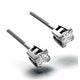 Platinum Princess Diamond Earrings - 0.66CT - G/VS - 3.8mm - image 2