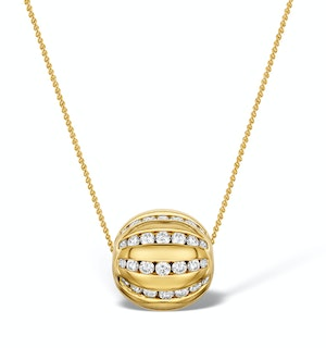 1ct Diamond Ball Necklace in 18K Gold