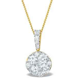 Diamond Moyen Galileo 1CT Pendant in 18K Gold - R4647