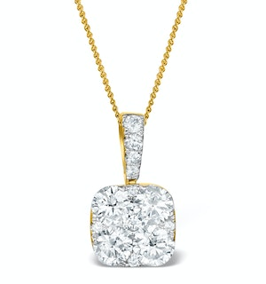 Diamond Carre Galileo 1.10CT Necklace in 18K Gold - R4648