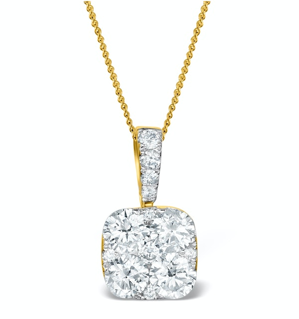 Diamond Carre Galileo 1.10CT Necklace in 18K Gold - R4648 - image 1