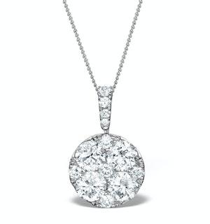 Diamond Grande Galileo 2.15CT Pendant Necklace in 18K White Gold