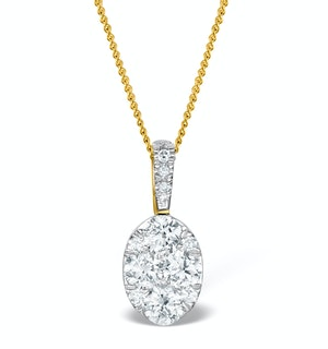 Diamond Oval Galileo 0.52CT Pendant in 18K Gold - R4640