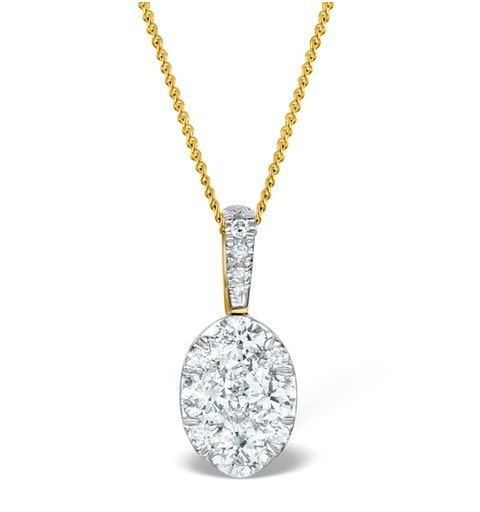 Diamond Oval Galileo 0.52CT Pendant in 18K Gold - R4640 - image 1