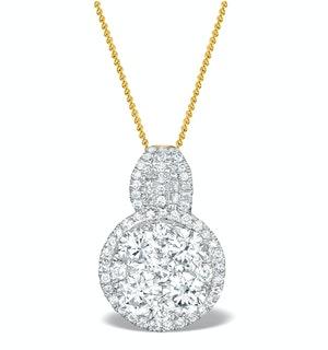 Diamond Halo Galileo 1.40CT Pendant in 18K Gold - R4641