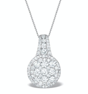 Diamond Halo Galileo 1.35CT Pendant in 18K White Gold - R4652Y