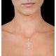 Diamond Pyrus Cross 1.40CT Pendant in 18K White Gold - R4654Y - image 2
