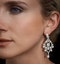 Diamond Pyrus Drop Chandelier Earrings 5ct in 18K White Gold P3402 - image 4