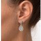 18K White Gold Diamond Earring 1.26ct H/Si - image 4