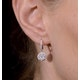 Halo Diamond Drop Earrings - Florence - 1.09ct - in 18K White Gold - image 4