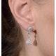 Vintage Diamond Drop Earrings - Vittoria - 0.80ct - in 18K White Gold - image 4