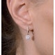 Halo Diamond Drop Earrings - Florence - 0.46ct - in 18K White Gold - image 4