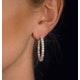 Diamond Hoop Earrings 4ct H/Si in 18K White Gold - P3481Y - image 4