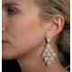 Diamond Halo Pyrus Chandelier Earrings 9.40ct in 18K Rose Gold P3490 - image 4