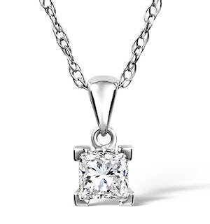 Olivia 18K White Gold Diamond Pendant Necklace 0.50CT H/SI