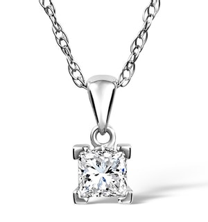 Olivia 18K White Gold Diamond Pendant Necklace 0.50CT G/VS