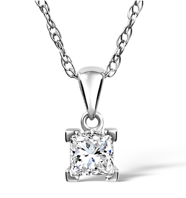 Olivia 18K White Gold Diamond Pendant Necklace 0.50CT H/SI - image 1