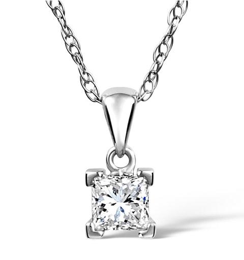 Olivia Platinum Diamond Pendant 0.50CT H/SI - image 1