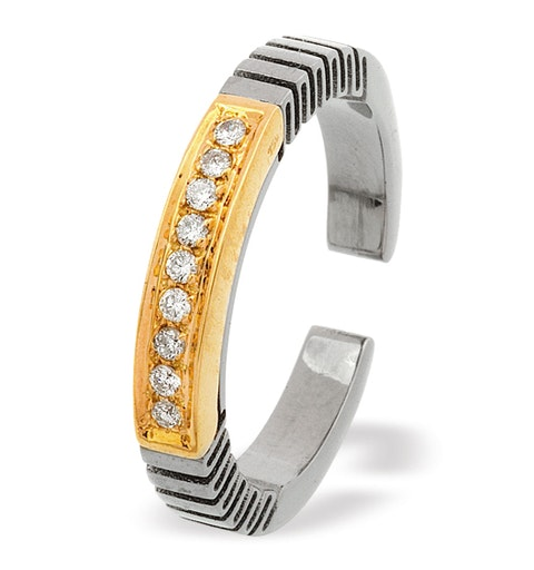 18K Gold and Titanium Ring - image 1