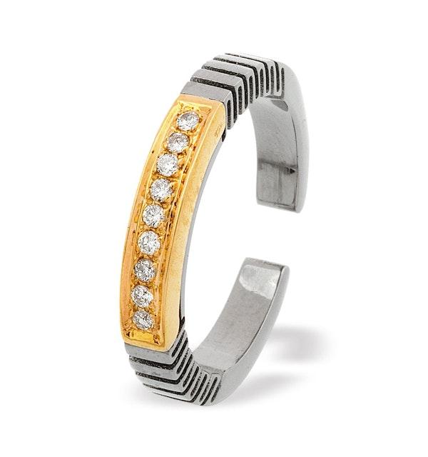 18K Gold and Titanium Ring - image 1
