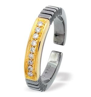 18K Gold Titanium Ring