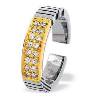 18K Gold and Titanium Ring Dia 0.31ct