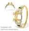 18K Gold Intricate Diamond and Sapphire Ring Mount - image 1