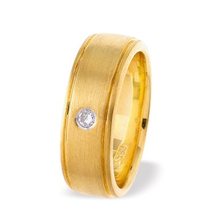 18K Gold Single Stone Diamond Ring (0.05ct)