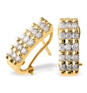 18K Gold Diamond Earrings (0.50ct)