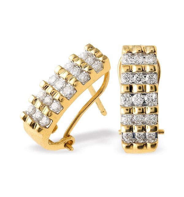 18K Gold Diamond Earrings (0.50ct) - image 1