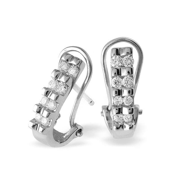 18K White Gold Diamond Earrings (0.25ct) - image 1