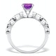 Stacking Ring Set Amethyst in Sterling Silver - UT33228 - image 2