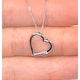 Heart Pendant 0.03ct Diamond 18K White Gold - image 3