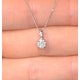 Galileo 0.50ct Look Diamond 0.18ct 18K White Gold Solitaire Necklace - image 3