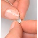 Galileo 0.50ct Look Diamond 0.18ct 18K White Gold Solitaire Necklace - image 4