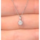 Galileo 0.50ct Look Diamond 0.18ct And Platinum Solitaire Necklace - image 3
