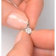 Galileo 0.50ct Look Diamond 0.18ct And Platinum Solitaire Necklace - image 4