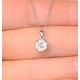 Galileo 1.00ct Look Diamond 0.41ct And Platinum Solitaire Necklace - image 4