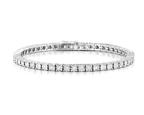 Silver Diamond Tennis Bracelets