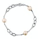 Tesoro Collection Freshwater Pearl Oval Design Bracelet in 925 Silver - image 1