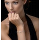 Tesoro Collection Freshwater Pearl Oval Design Bracelet in 925 Silver - image 2