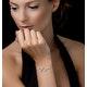 White Topaz Double Heart Adjustable Tesoro Bracelet in 925 Silver - image 2