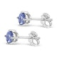 Tanzanite 1.00CT high quality (AA) 925 Silver Earrings - image 2