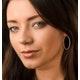 Diamond Hoop Earrings 35mm in Sterling Silver - Ug3237 - image 2