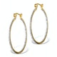 Diamond Hoop Earrings 35mm in Gold Vermeil - Ug3238 - image 1